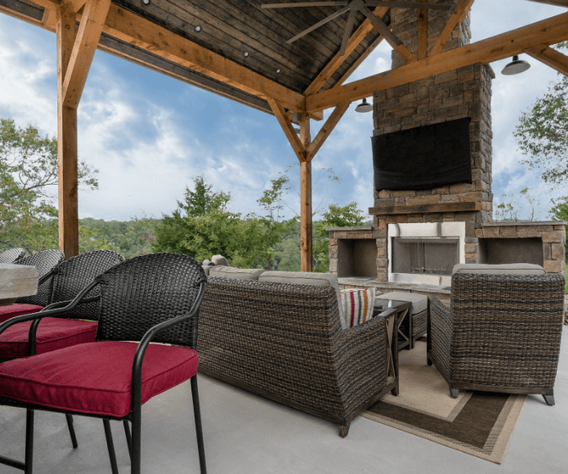Patio Cover Fireplace