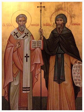 Ikona na sv.sv. Kiril i Metodij v Oslo