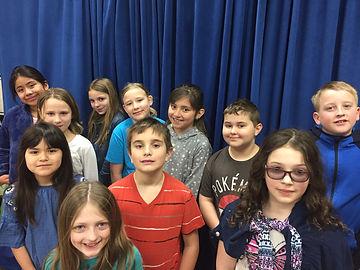 Evergreen Choir with Blue Curtain