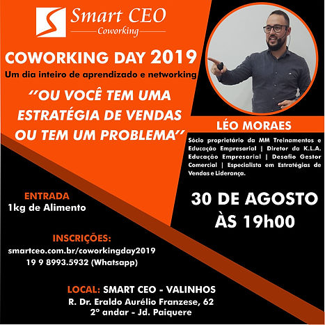 COWORKING DAY - PALESTRAL LEO PINHEIROS