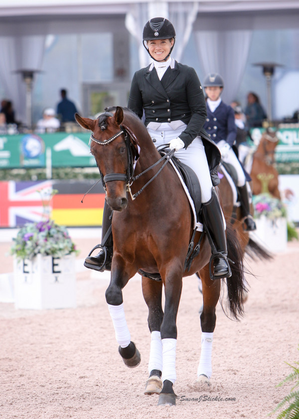 Dressage trainer Bridget Hay on stallion, Faolan