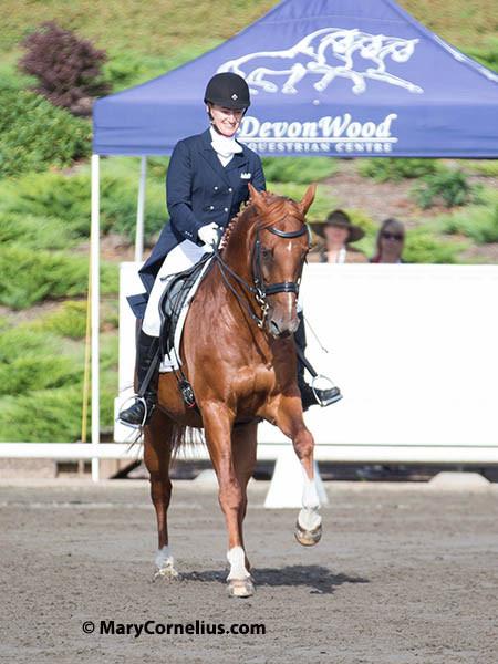 Brandy Jones and Quarter Horse-Cross Bruce. Photo  by Mary Cornelius