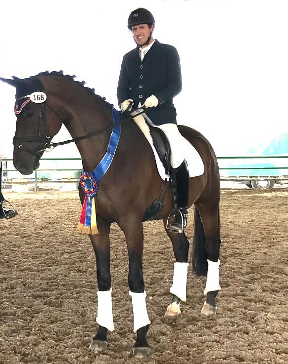 David Wightman on homebred horse, Hotshot AF