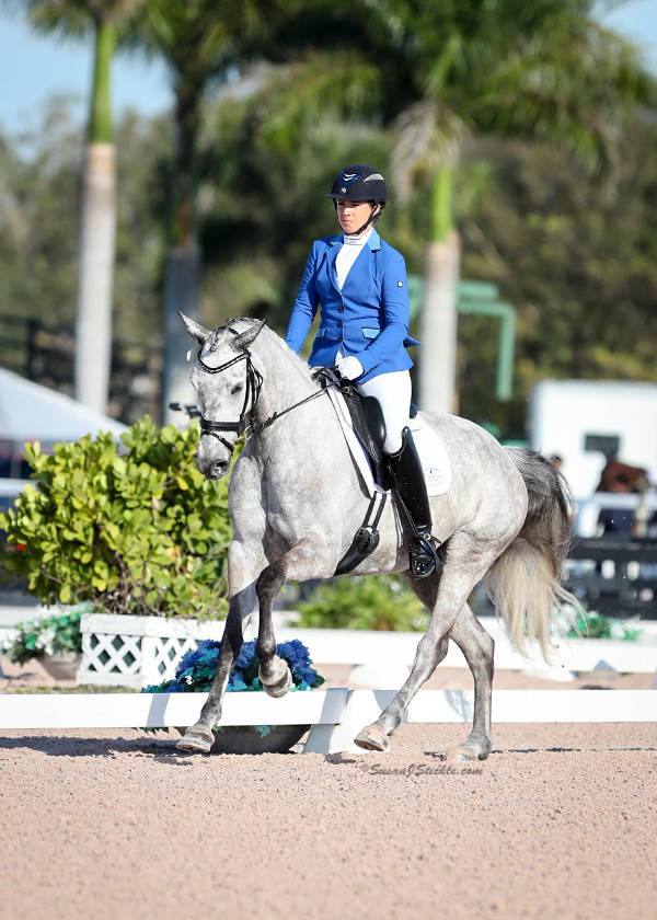 Dressage trainer Bridget Hay on mare Fauna