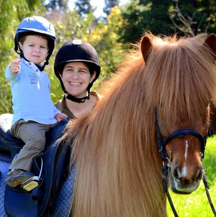 Katy Barglow and her son with Icelandic pony, Magni. Photo by Mattie Terstegge.