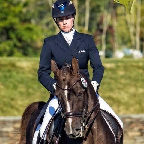 Dressage trainer Lauren Chumley on Morgan pony, Avatar's Jazzman