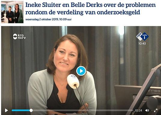 Ineke Sluiter en Belle Derks about the problems around distributing research funding