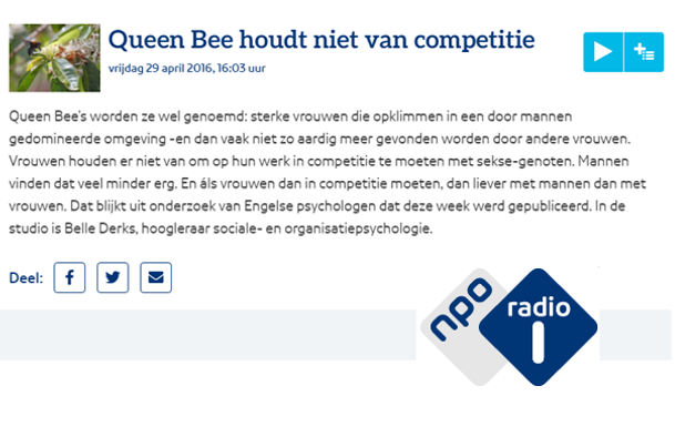 Queen Bee rather avoids competition