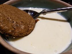 Sugar Cookie and irish moss custard