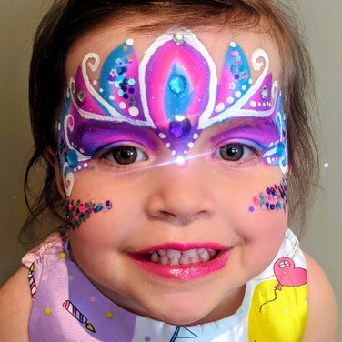 Princess Fancy | Jewels Bejewelled Gems Glitter | Rainbow Swirls Pastel | Eye Shadow | Facepaint Face Paint | Regina Saskatchewan | Joy Filled Face Painting & Balloon Twistin
