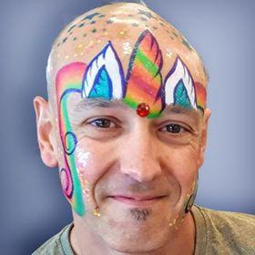 Unicorn Funny Man facepaint face paint ideas Regina Saskatchewan
