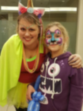 face painting facepainting balloon animals unicorn regina saskatchewan