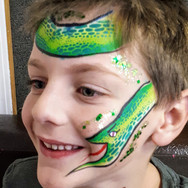 Snake Scales facepaint face paint ideas Regina Saskatchewan