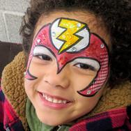 Flash Superhero facepaint face paint ideas Regina Saskatchewan