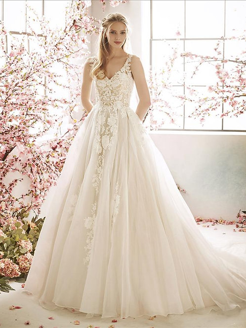 Lavender bridal gown
