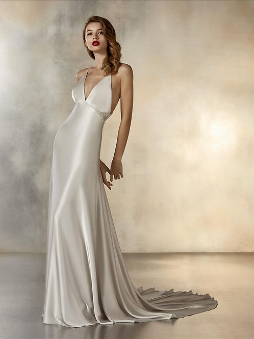 Ladder wedding dress