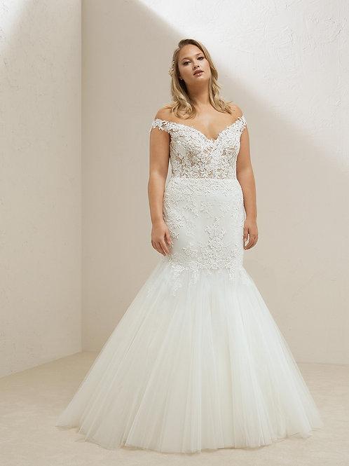 Miri plus wedding gown