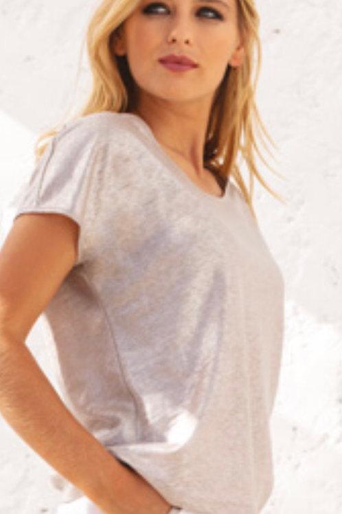 Maloka | Tee-Shirt lin brillant