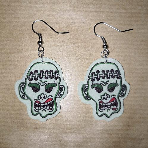 Boucles d'oreilles Frankenstein phosphorescentes