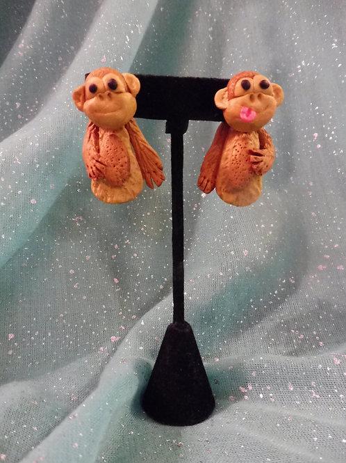 Boucles d'oreilles singes