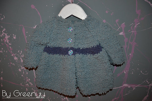 Gilet bébé au tricot taille 6 mois