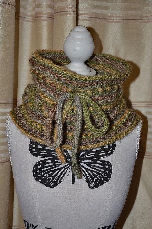 Snood capuche au tricot