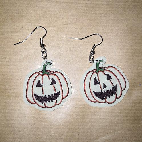 Boucles d'oreilles d'halloween phosphorescentes citrouille