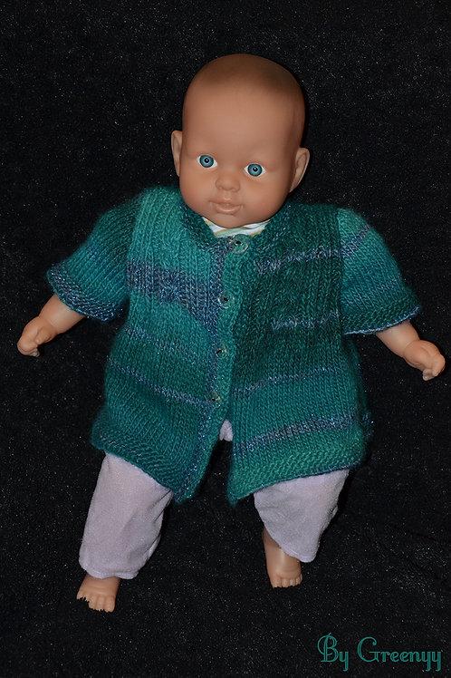 Gilet bébé au tricot taille 3 mois
