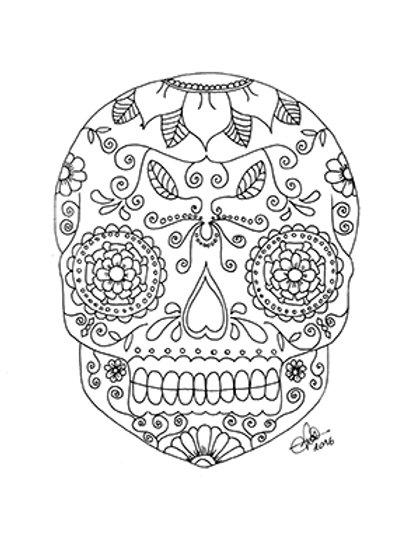 Crane mexicain à colorier