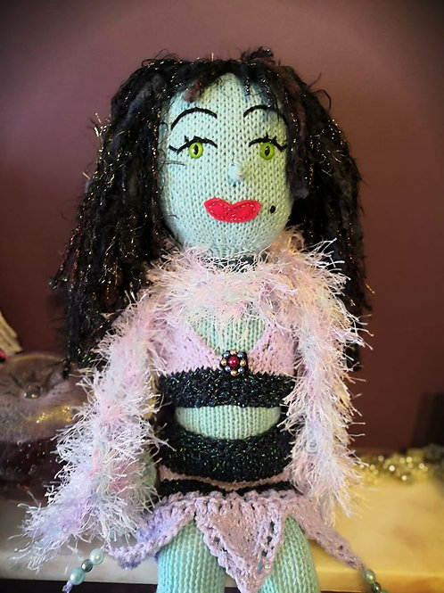 Grande poupée 55cm au tricot