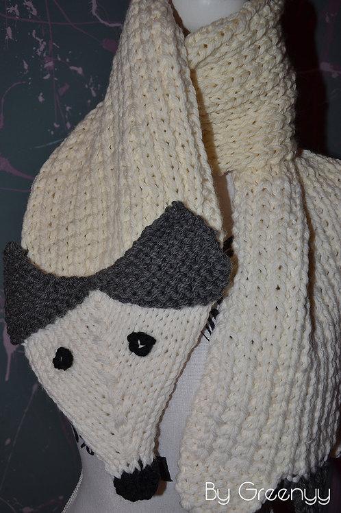Écharpe tricot Renard