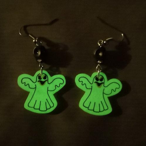 Boucles d'oreilles Fantômes phosphorescentes
