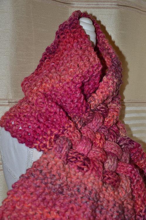 Echarpe croisée au tricot