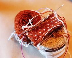 "Gretchen Funk ""Knitting"""