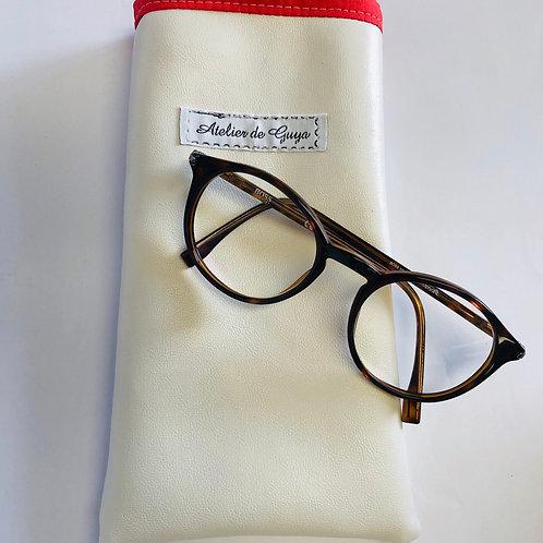 Porta occhiali in ecopelle