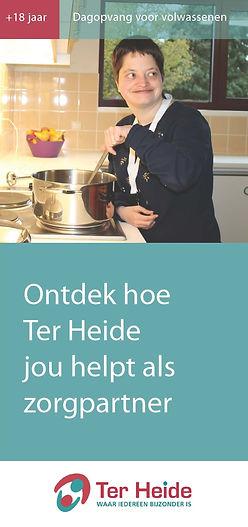 Folder Dagopvang voor volwassenen. Ontdek hoe Ter Heide jou helpt als zorgpartner.