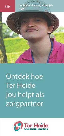 Folder RTH. Ontdek hoe Ter Heide jou helpt als zorgpartner.