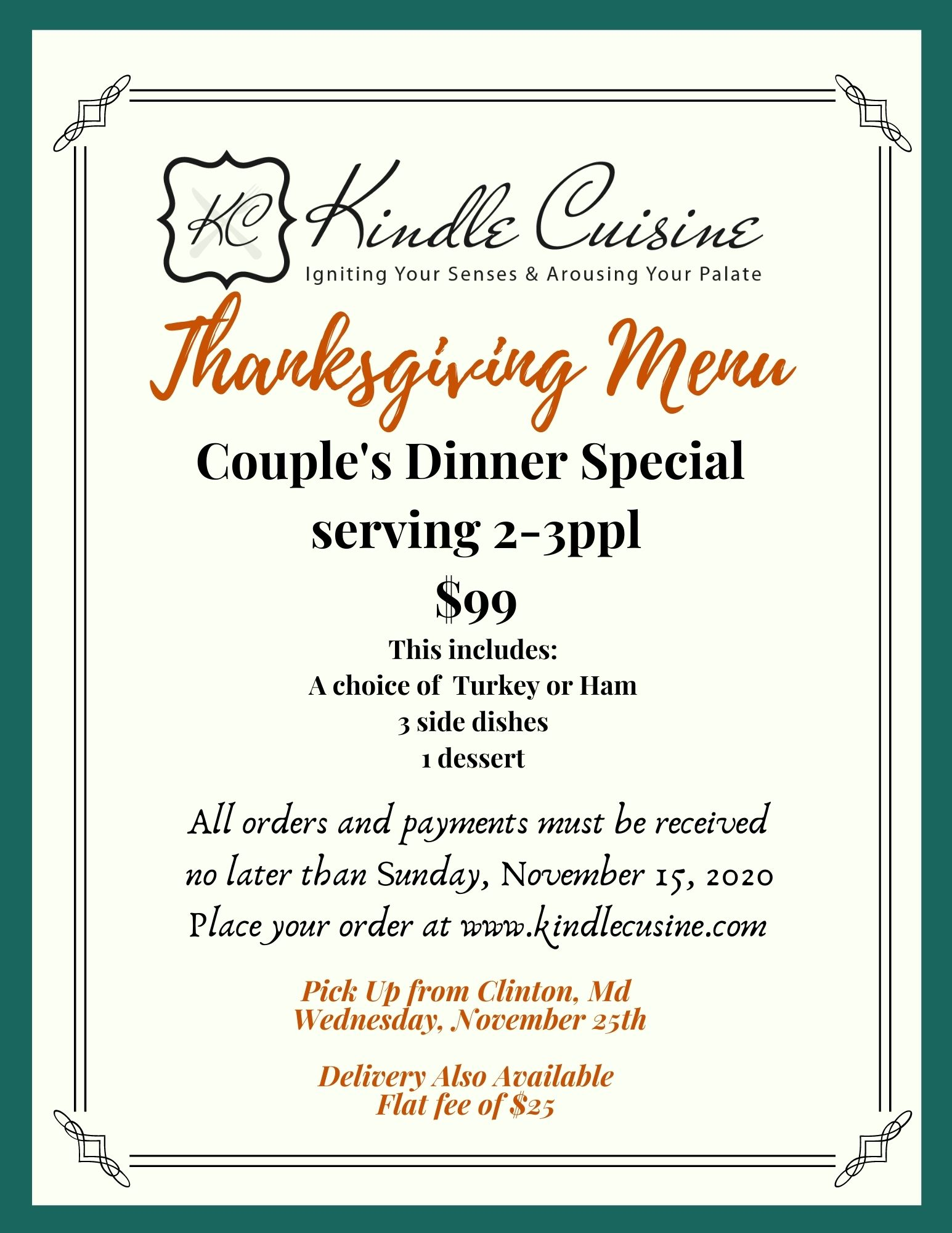 Couple's Dinner Special