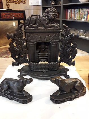 Cast Iron Salesman's Sample Fireplace