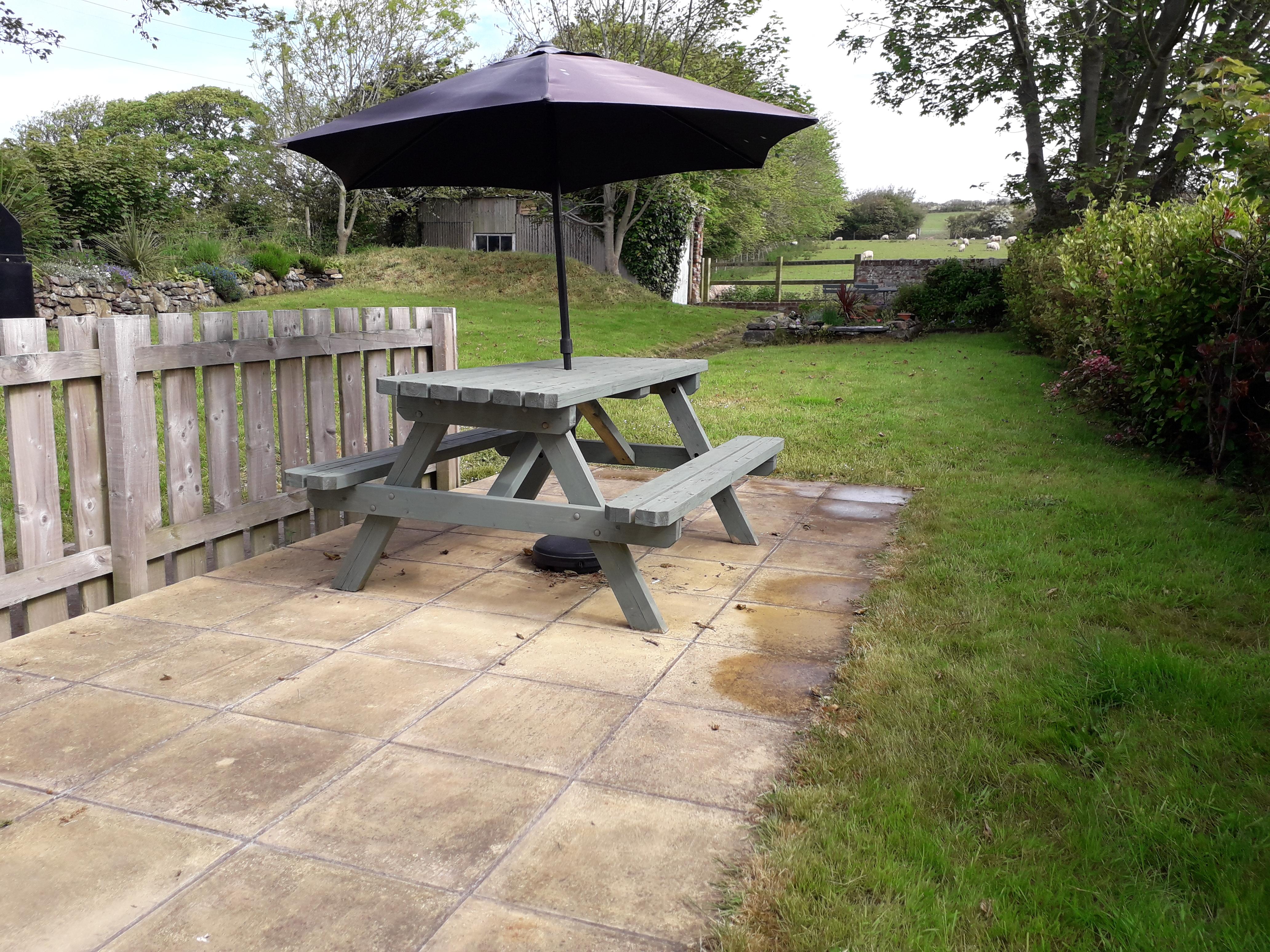 Main patio and garden