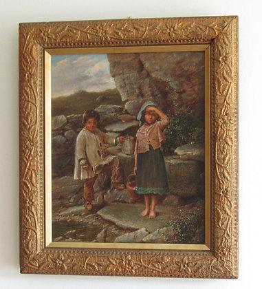 William H Ward - children at a spring