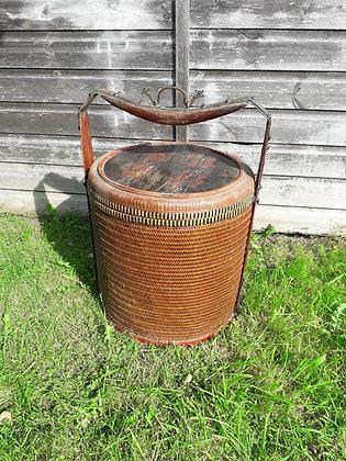 Antique Chinese Wicker Wedding Basket