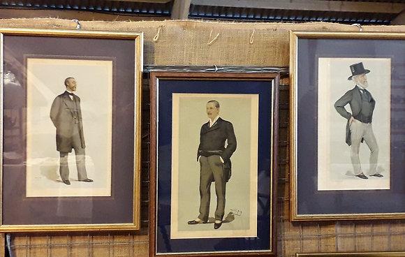 Three Antique Vanity Fair Spy Prints
