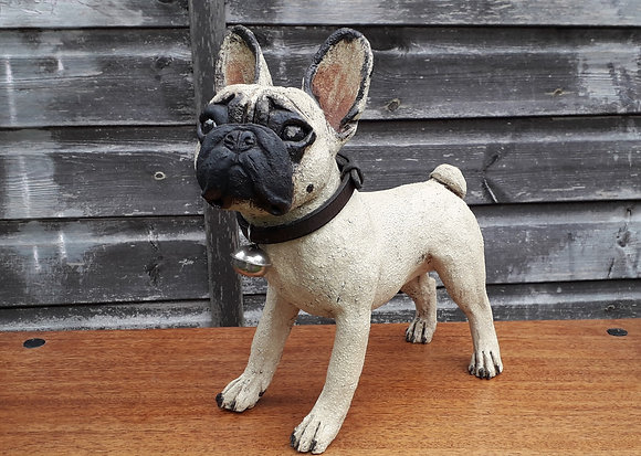 Studio Pottery French Bulldog by Joanne Cooke
