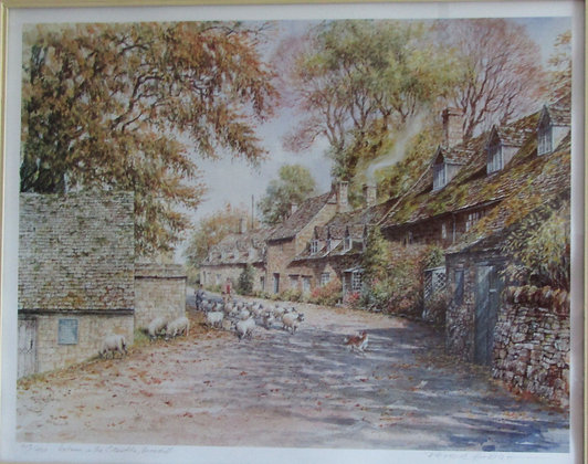 """Peter Hodge Ltd. Ed. """"Autumn in the Cotswolds"""""""