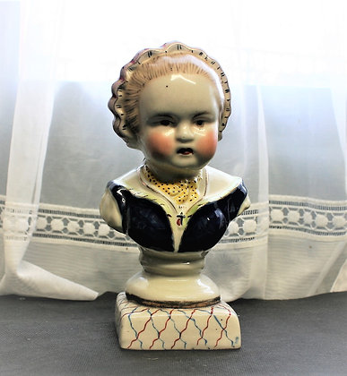 19thc Staffordshire Bust of a Child (3)