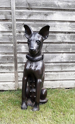 Magnificent very large carved hardwood Hound