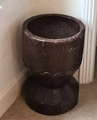 Antique African Mortar Stool