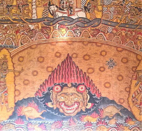 Very Large Balinese Temple Wall Painting