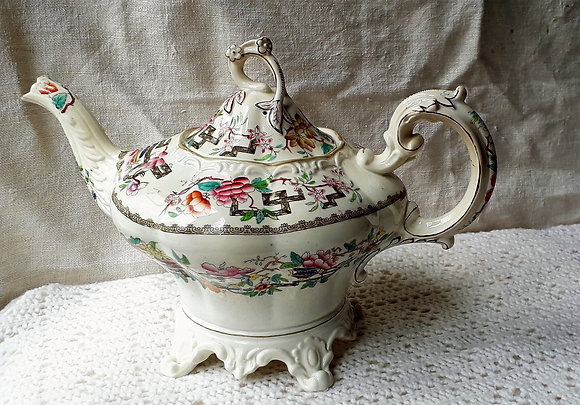 Large 19thc Staffordshire Teapot